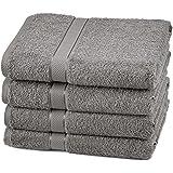 Pinzon Egyptian Cotton Bath Towel Set (4 Pack) - Grey
