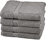 Pinzon Egyptian Cotton Bath Towel Set (4 Pack) - Grey