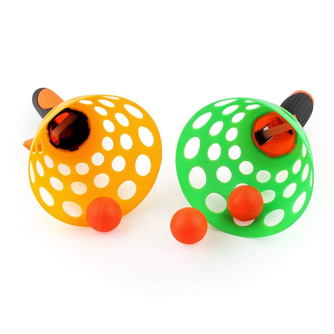 Jasnyfall 1 Set Parent-Enfant catapulte Balle de Lancement de Balle de Table Jouet Parfait pour Les Enfants en Plein air interactif balles en Caoutchouc Balle de ping-Pong Jouets Multicolore