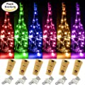 8 PCS LED String Light, Battery Operated 20 Starry LED Copper Wire Lights, 6.5 Feet/2M,Best for Mason Jar Lights,Moon Lights,Party,Wedding and Home Decoration
