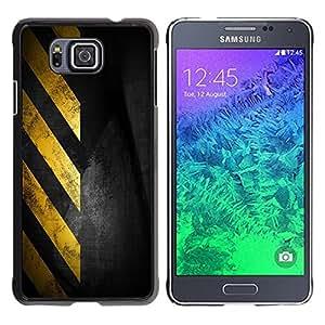 All Phone Most Case / Hard PC Metal piece Shell Slim Cover Protective Case Carcasa Funda Caso de protección para Samsung GALAXY ALPHA G850 Traffic Sign Yellow Tape Black Stripes