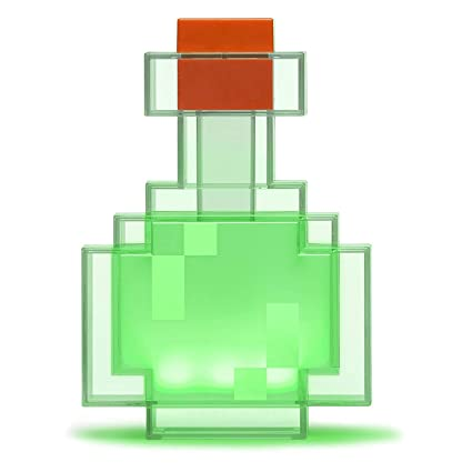 ThinkGeek Minecraft Color Changing Potion Bottle - Lights Up and Switches  Between 8 Different Colors - Officially Licensed Minecraft Toys (Limited