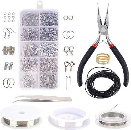 8 Pcs DIY Jewelry Making Tools Repair Kit Pliers Tweezers Set Accessories Craft