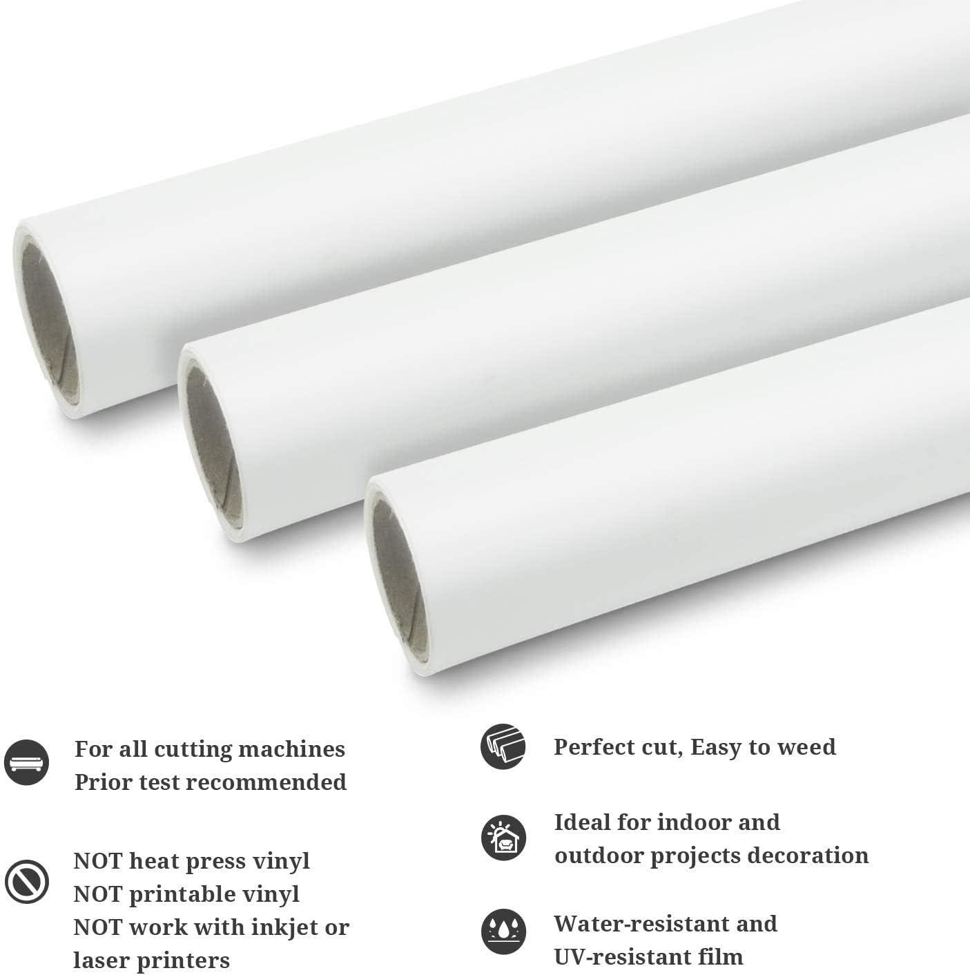 30cmx3m Matte blanco Reposicionable vinilo roll artesanía autoadhesiva película para cortar Plotters y siluetas: Amazon.es: Oficina y papelería