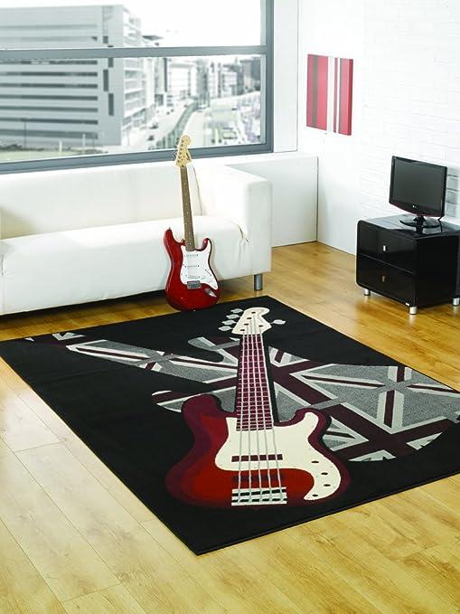 Tappeto Moderno Rock Per Cameretta Ragazzi 120x160cm Morbidissimo