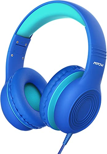 Mpow CH6S Kids Headphones, Foldable Adjustable On Ear Headphones, Non-Removable Audio Cable, 3.5mm Jack Compatible PC Cellphones Children Girls Boys Teens