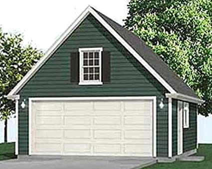 Garage Plans 2 Car Compact Steep Roof Garage Plan With Attic – 20 X 24 Garage Plans With Loft