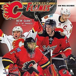 "Turner Calgary Flames 2016 Team Wall Calendar, September 2015 - December 2016, 12 x 12"" (8011934)"