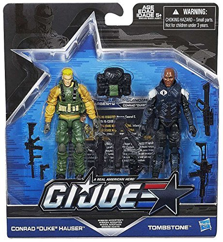 G.I. Joe, 50th Anniversary, Mission Accepted Action Figure Set (Duke vs Tombstone), 3.75 Inches ()