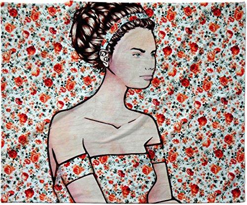 KESS InHouse Brittany Guarino ''Spring Fashion'' Wood Flowers Fleece Baby Blanket, 40'' x 30'' by Kess InHouse (Image #1)