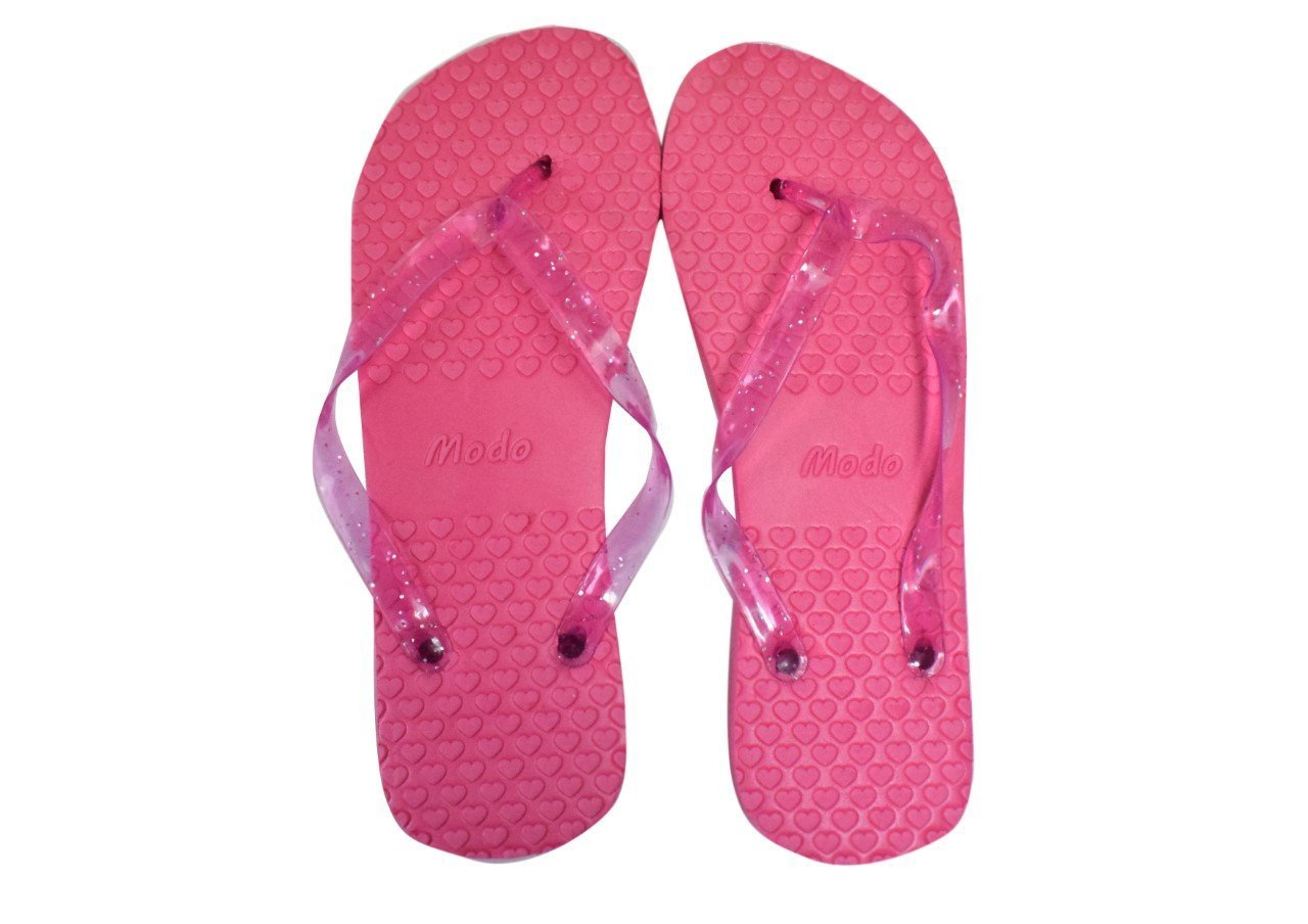 Amazon.com: Modo\'s Wedding/Party Hot Pink Flip Flop Pack 10 Pairs ...
