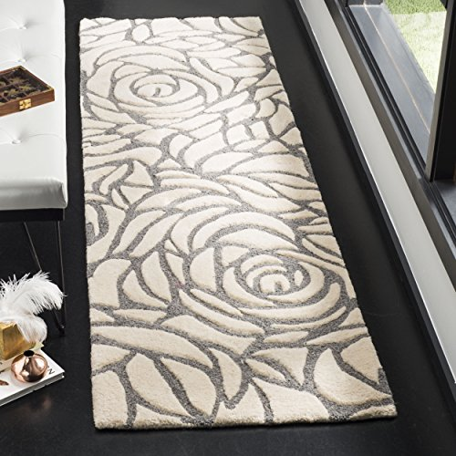 Safavieh Casablanca Collection Abstract Area Runner, 2 3 x 8 , Ivory Grey