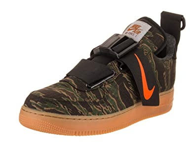 7c902661ed1 Nike Mens Air Force 1 UT Low PRM WIP Camo Green Orange Synthetic
