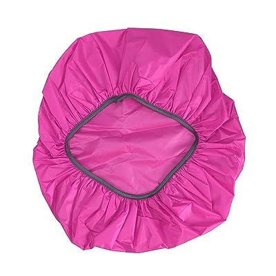 LEDMOMO Sac à dos imperméable à l'eau, sac à dos de couverture de pluie 35L pour la randonnée Camping Voyager (Rose Rouge)