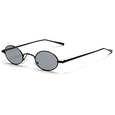 e93e453ec Image Unavailable. Image not available for. Color: Black small oval  sunglasses ...