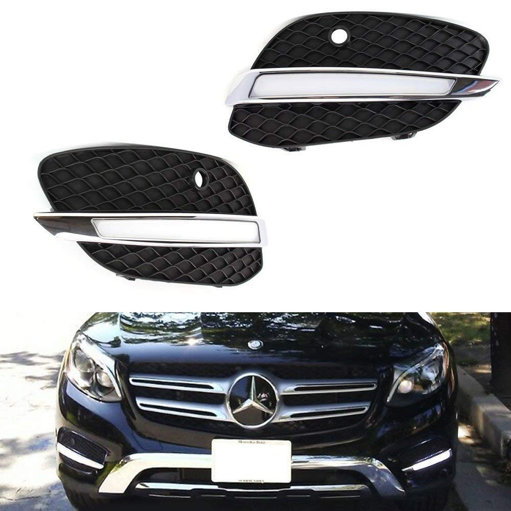 Xenon White Continuous LED Lighting iJDMTOY Direct Fit LED Daytime Running Light Kit For 2016-up Mercedes X205 GLC-Class Replace Lower Bumper Bezel//Grille Covers