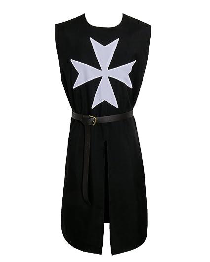 9c66517664fb2 Nofonda Mens Medieval Templar Knight Tunic Halloween Fancy Dress Costume -  Middle Ages Cavalier Tunic for