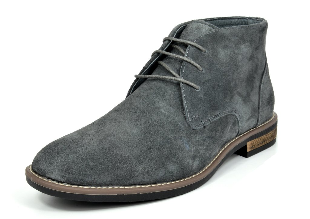 Bruno Marc Men's URBAN-01 Grey Suede Leather Lace up Oxfords Desert Boots - 11 M US by BRUNO MARC NEW YORK