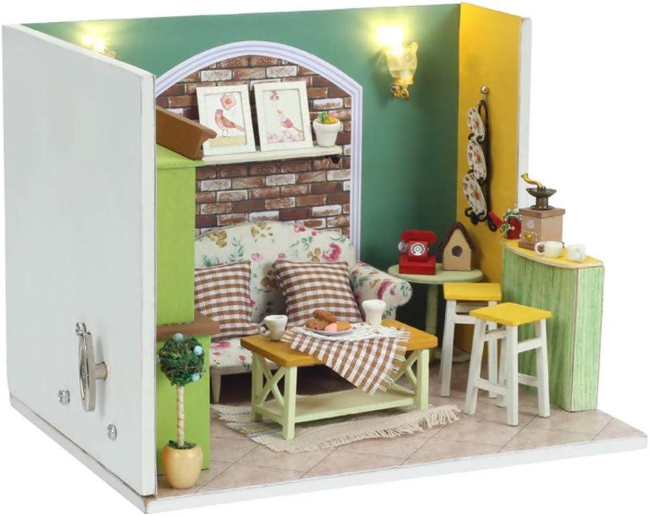 Furniture for Dolls LIVING ROOM Dollhouse Miniature 1:12 Model Kit Set 3D Puzzle