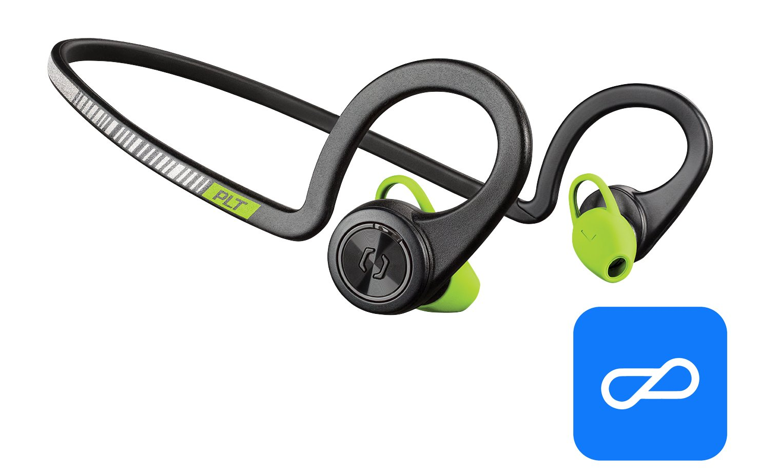 Plantronics BackBeat FIT Training Edition Sport Earbuds, Waterproof Wireless Headphones, Access to Interactive Audio Coaching from the PEAR Personal Coach App, Black Core