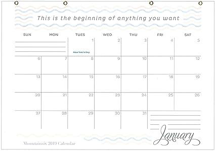 Calendario de pared para escritorio Mountainsix 2019 de 17 x ...