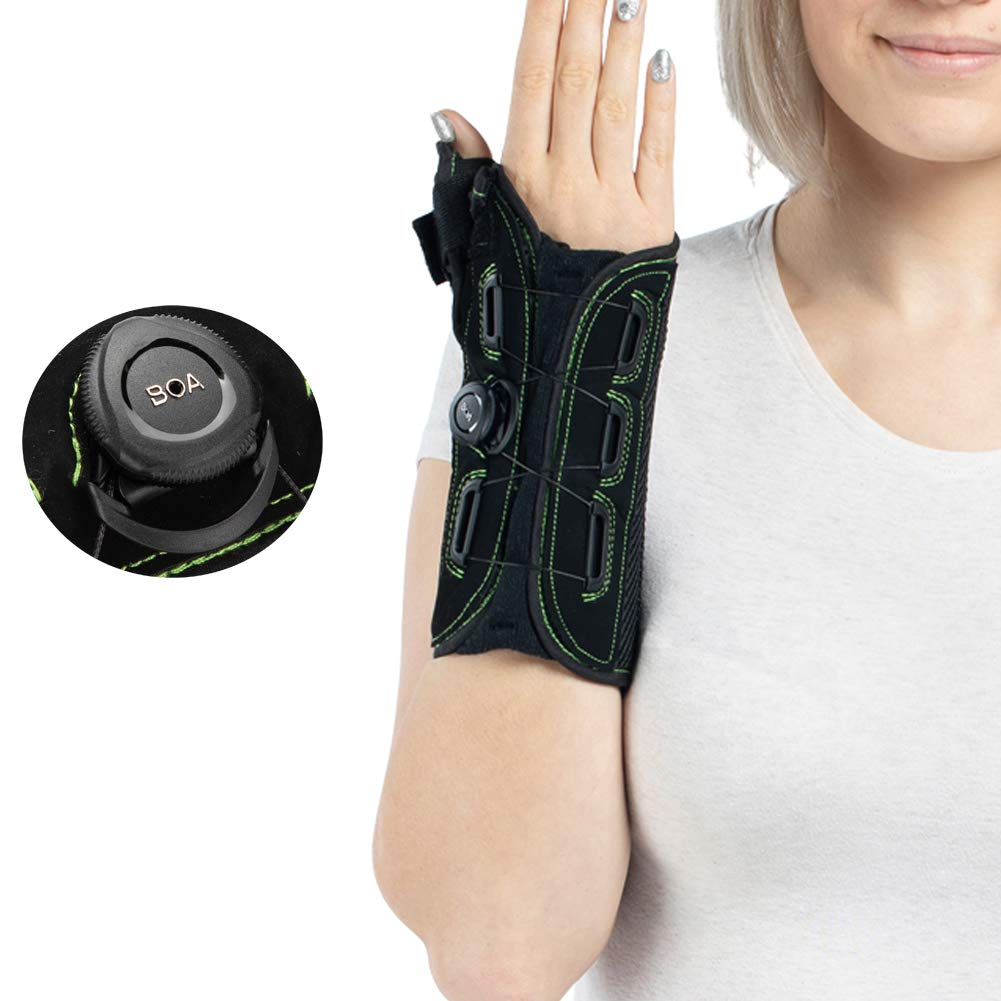 Thumb and Wrist Spica Splint with Advanced Boa Technology Brace for Arthritis, Tendonitis, Carpal Tunnel Syndrome Pain Relief- Right Hand Small