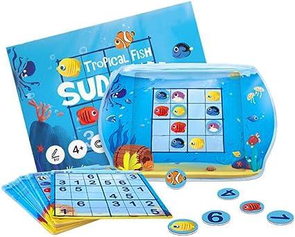 QHWJ Juguetes educativos para niños, Juego de Rompecabezas Sudoku ...
