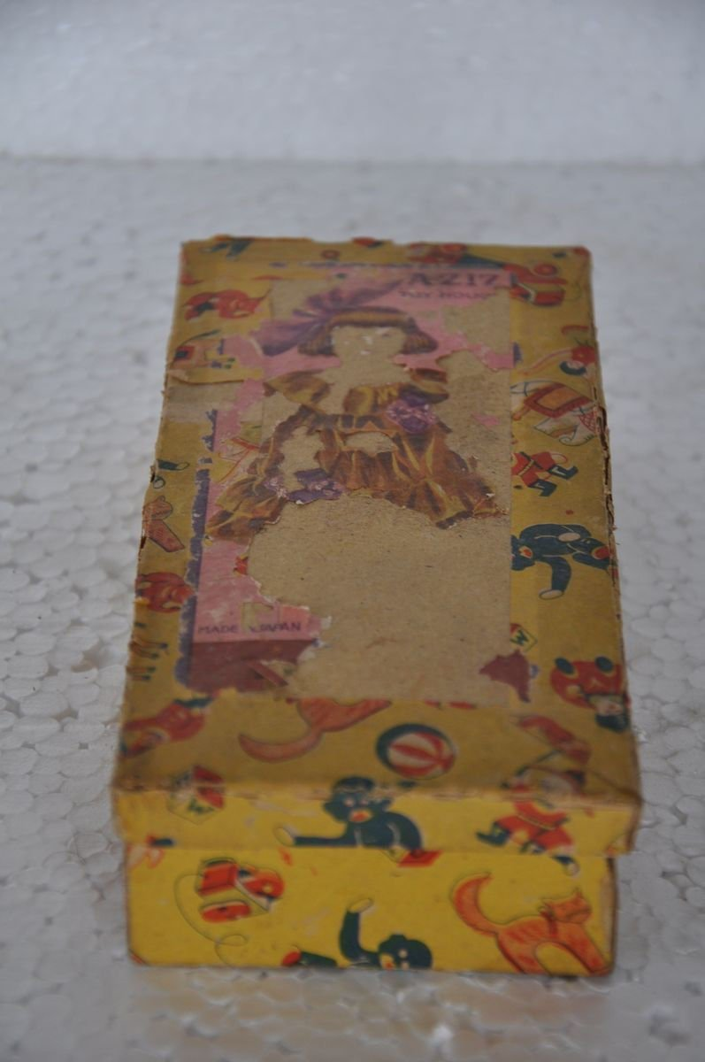 Vintage Boxed Aziz Toy House Textured Cloth Doll Toy , Japan by Indian Handicrafts Export