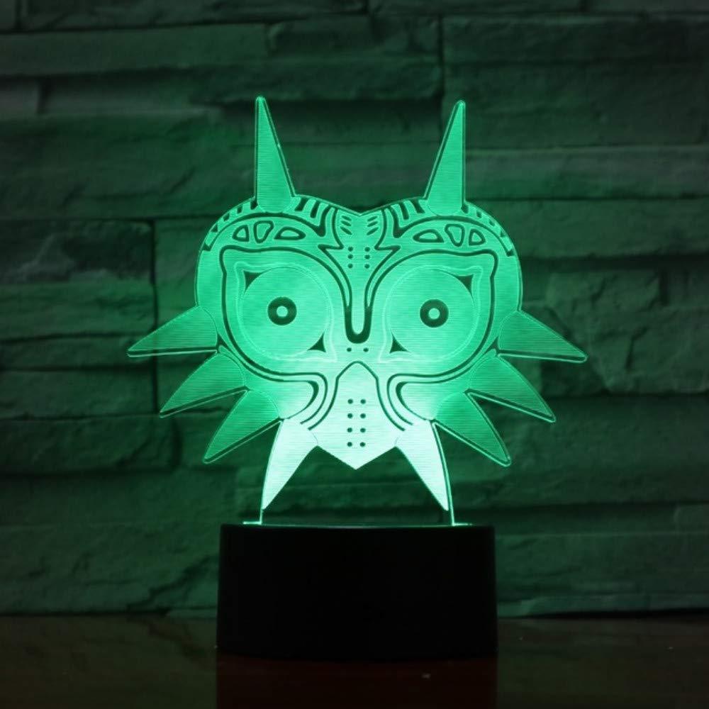 Hysxm Legend Of Zelda Figure Majoras Mask 3D Lava Lamp 7 Colore Che Cambia Led Night Light