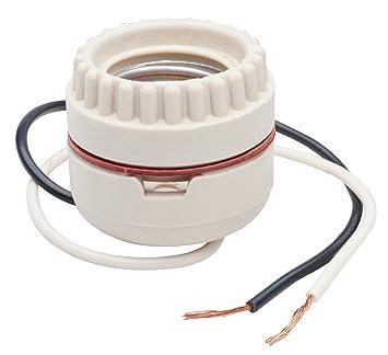 Legrand   Pass U0026 Seymour 8101CC10 Medium Base Incandescent Porcelain Lamp  Holder, Keyless, Single
