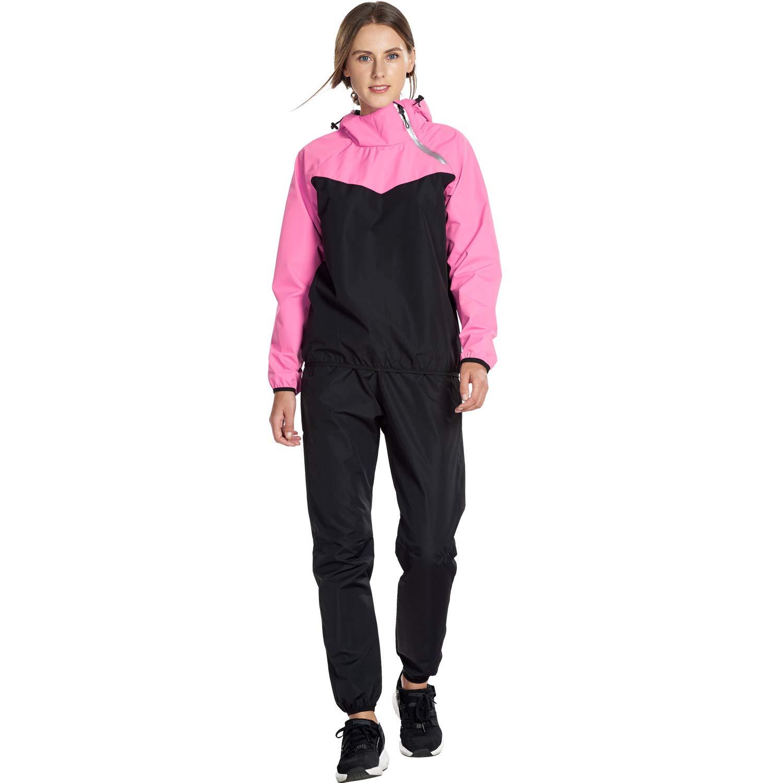 JOMLUN Women's Fitness Running Suit Yoga Clothing Sauna Suit