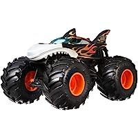 Mattel Hot Wheels-Monster Trucks Vehículo Shark Wreak 1:24