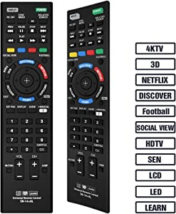 Gvirtue Sony Universal Remote Control for Almost All Sony RM-YD005 RM-YD014 RM-YD018 RM-YD021 RM- YD024 RM-YD025 YD026 RM-YD027 RM-YD028 RM-YD040 RM-YD063 RM-YD065 RM-YD092 RM-YD102 RM-YD103 RM- Y156