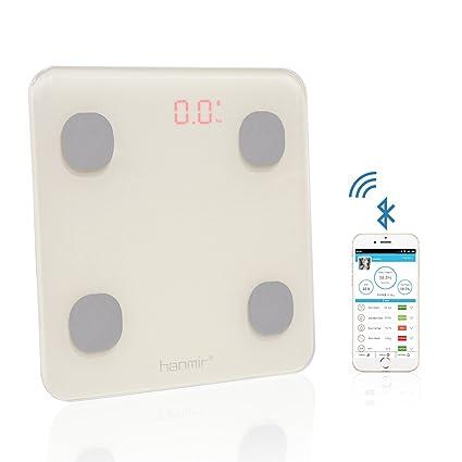 Báscula de Baño hanmir Báscula de Baño Digital con APP y bluetooth 4.0, 150 kg