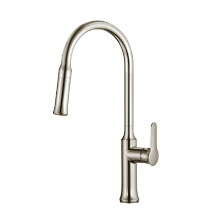 Kraus KPF-1630SS Nola Single Lever Pull-down Kitchen Faucet Stainless Steel  Finish