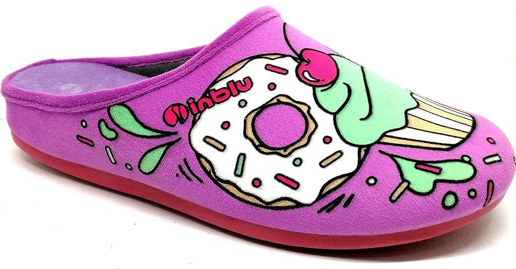 Inblu pantofole ciabatte invernali da donna art. VG-05 glicine NUOVO  -