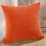 Decorative Pillow Cover - MochoHome Corduroy Decorative Solid Square Throw Pillow Cover Case Pillowcase Cushion Sham - 20