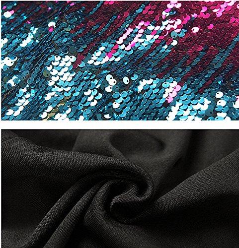 J & J Sexy Sequin Pas V-cou Femme Manches Bodycon Cocktail Club Soirée Mini Robes D'été Profonde Robe Col V Pour Les Femmes Violet