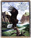 eagle quilt - Manual Inspirational Collection 50 x 60-Inch Tapestry Throw with Verse, Freedom by Linda Pickens,