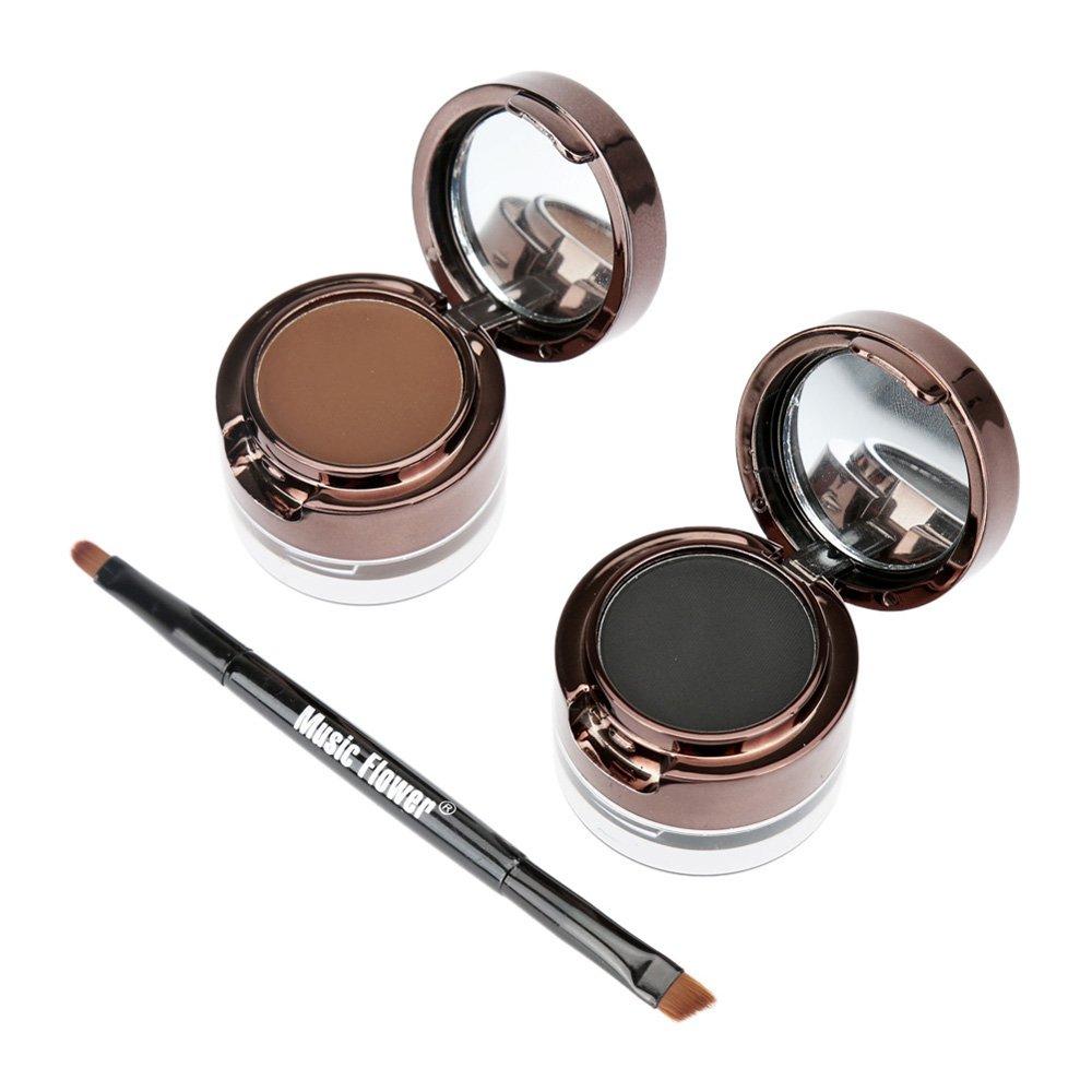 Anself Eyebrow Eyeliner Cream Cosmetic Set For Eye Makeup Black