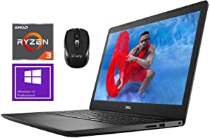 "2020 Newest Dell Inspiron 15 3000 3585 Premium Laptop Computer 15.6"" FHD Anti-Glare AMD Ryzen 3 2200U (Beats i5-7200U) 16GB DDR4 512GB SSD AMD Radeon Vega 3 WiFi Win 10 Pro + iCarp Wireless Mouse"