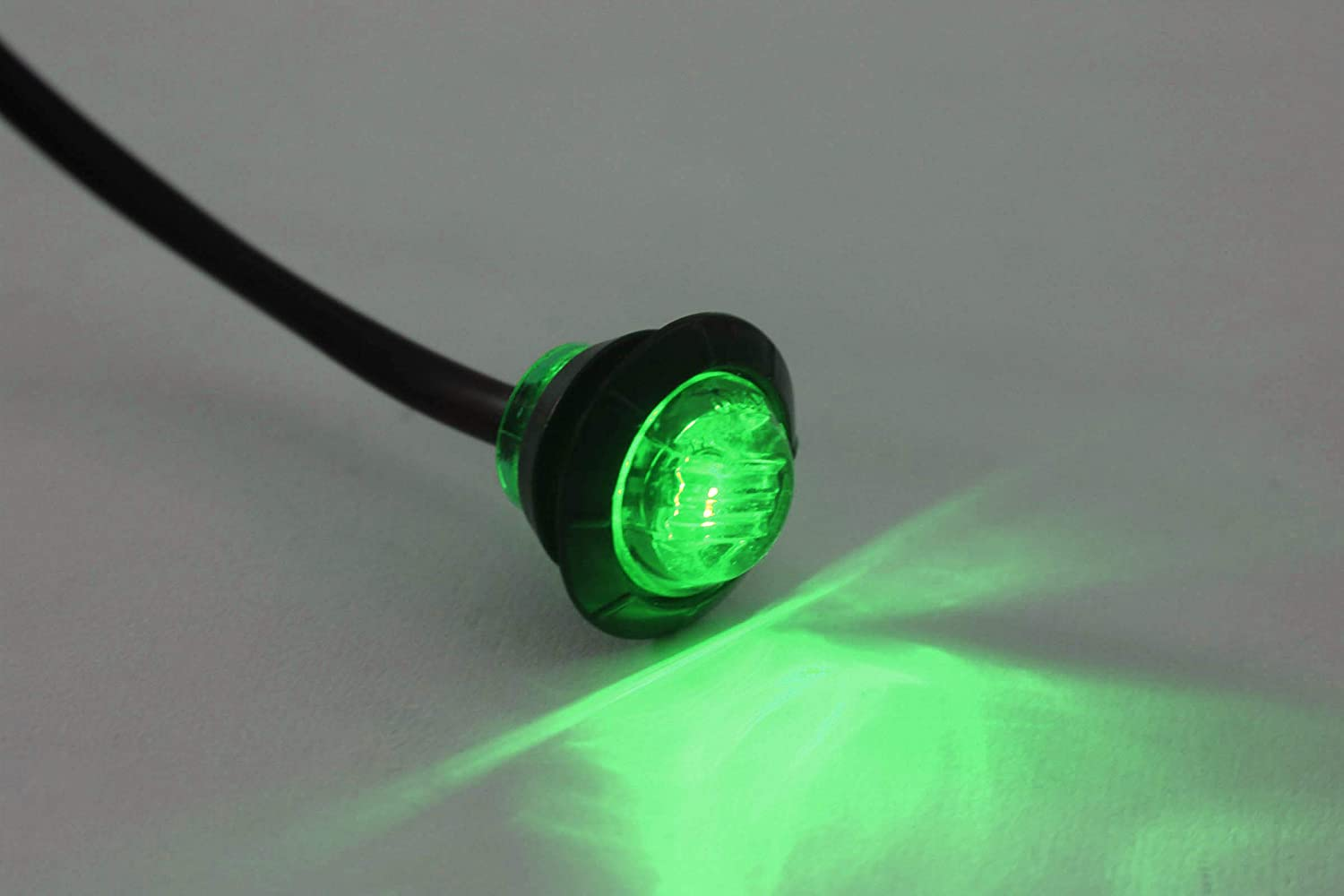 20 Clear//Green LED Side Marker Lights 3//4 Clearance Truck Trailer Pickup Extra Bright