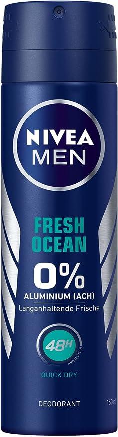 Nivea Men Desodorante Spray para hombres, sin aluminio, Fresh ...
