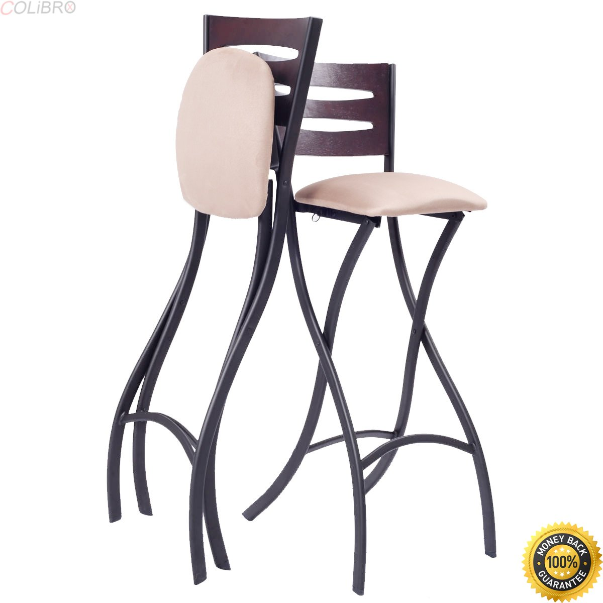 Colibrox set of 2 folding counter bar stools bistro dining kitchen pub chair furniturekitchen island bar stoolskitchen counter stools with backs bar