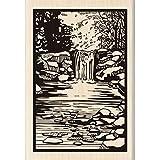 Inkadinkado Wood Stamp, Woodland Stream