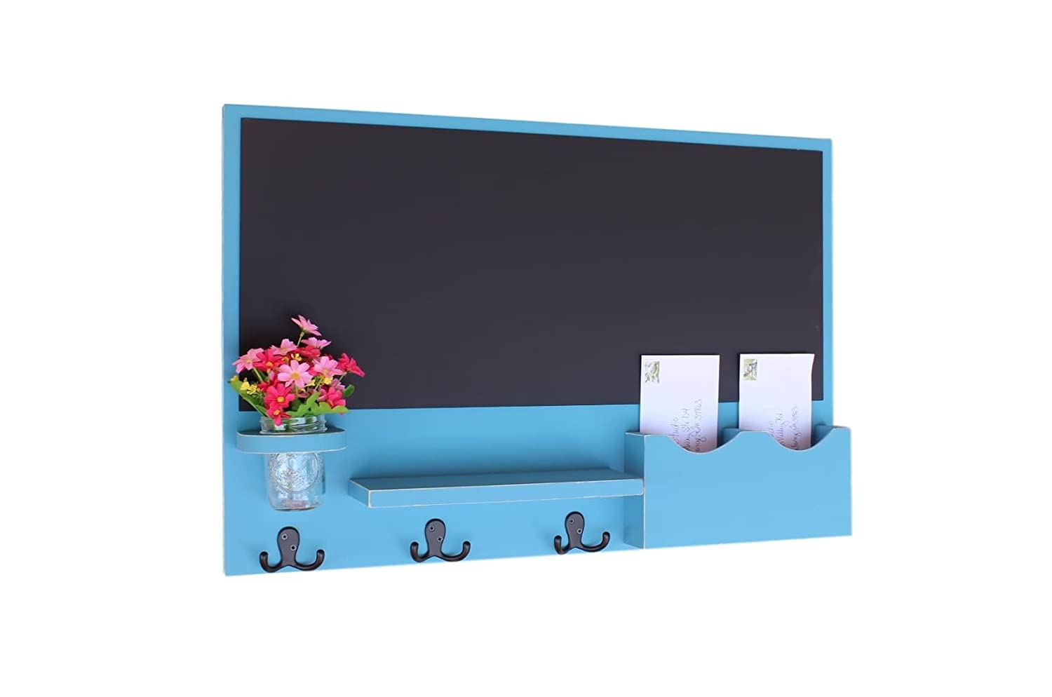 Amazon.com: Legacy Studio Décor Chalkboard Mail & Letter Holder with ...