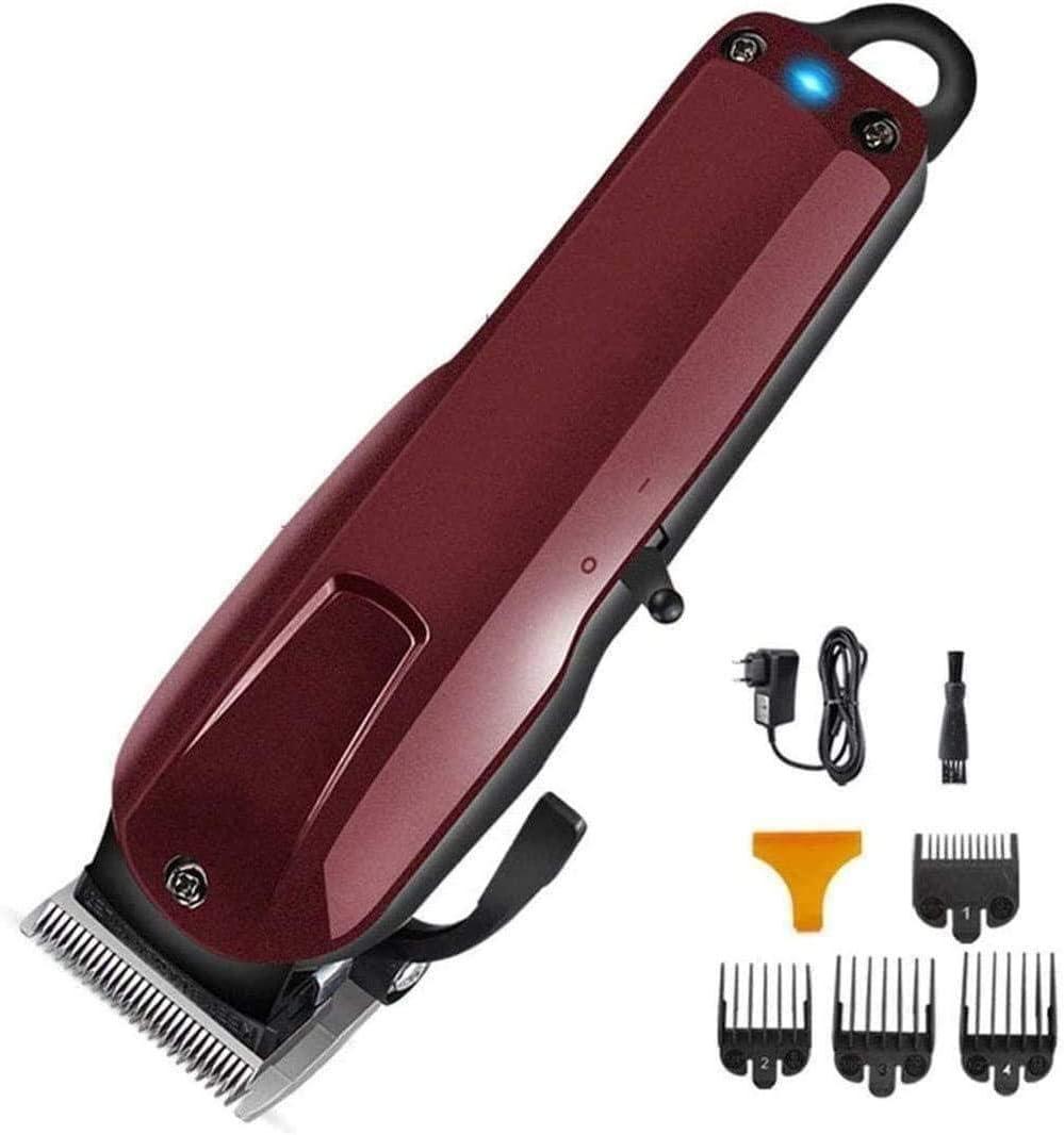 Cortapelos Cortador de fader inalámbrico inalámbrico Motor de pivote ajustable recargable Cortapelos Cable de precisión/Cuchillas de acero al carbono Recortador de barba para el cabello