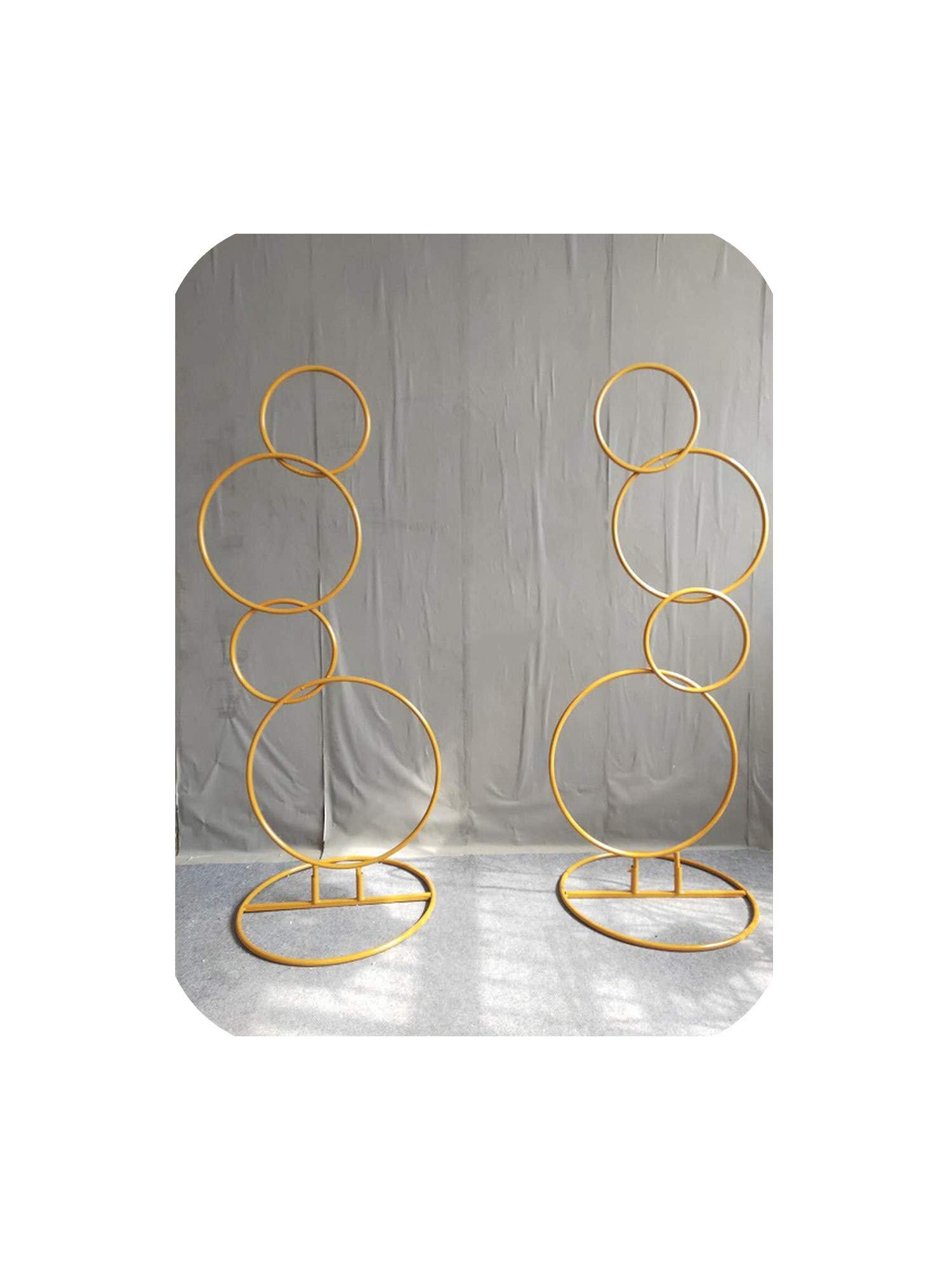 2pcs Wedding Background Shelf Metal Round Wedding Arch for Weddings Flowers,Gold by Theoutgoing Wedding arch