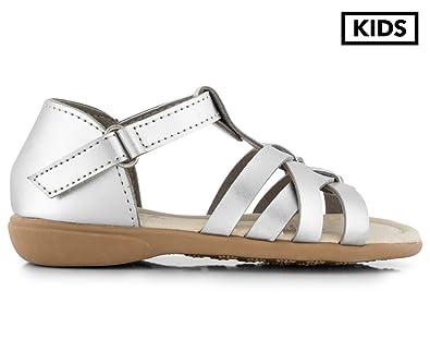 f712def9b38 Grosby Girls  Sara Sandal Silver  Amazon.com.au  Fashion