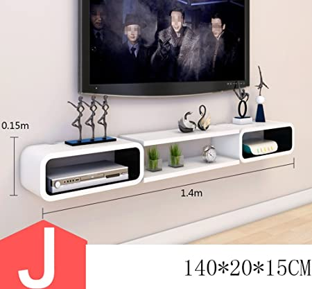 C-Bin1 Marco decorativo de TV, sala de estar creativa Conjunto de caja superior Estantes Estante de pared Estante de ...